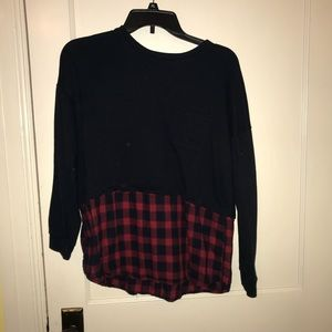 Forever 21 Mock Layer Sweater